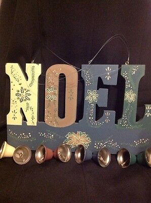 NOEL with bells CHRISTMAS HOME DECOR Vintage