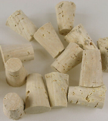 5 x Tapered Cork Bung Stopper Bottle size 000