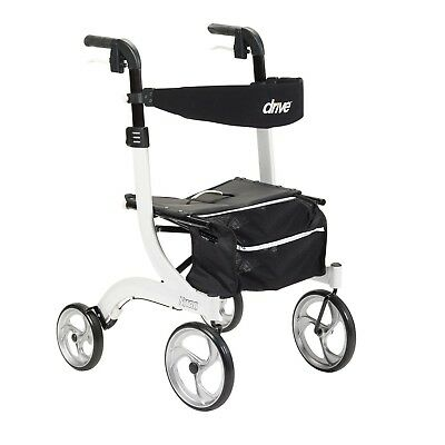 Drive Medical Nitro Euro Style Red Rollator Walker, 3 colors to choose