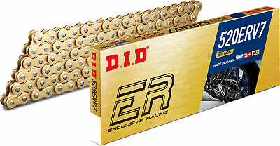 DID ERV 3 520 X 120 Link X Ring Gold Motorcycle Chain Off Road Racing Motocross