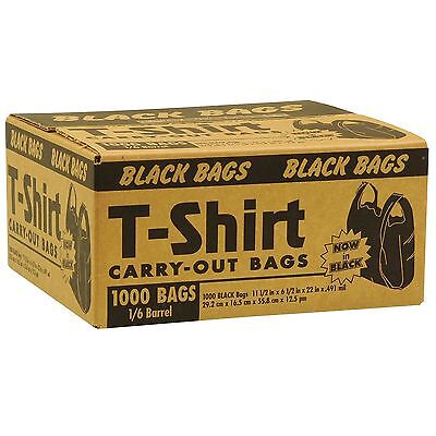 Black T-Shirt Carryout Bags (1,000 ct.)   NEW NEW NEW NEW