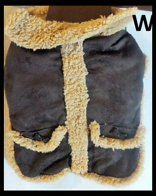 Dog Winter Coat Brown Tan Jacket Puppy Clothes Pet Clothing Cat Apparel Costume