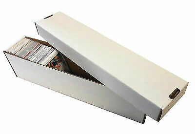 50 -  800ct 2pc Cardboard Vertical Baseball Trading Card Storage Boxes Max #802
