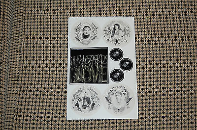 The Decemberists Sticker Sheet for album The Hazards of Love RARE indie