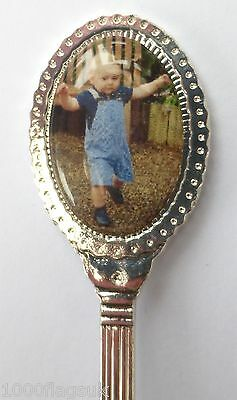 Prince George 1st Kate Middleton & Prince William Collector's Spoon Silver P'd