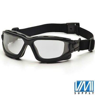PYRAMEX I-FORCE SLIM Clear Anti-Fog Black Glasses Goggles Dual Pane SB7010SDNT