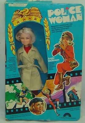 Angie Dickenson Police Woman Doll in Box TV Series Character 1976 Horsman