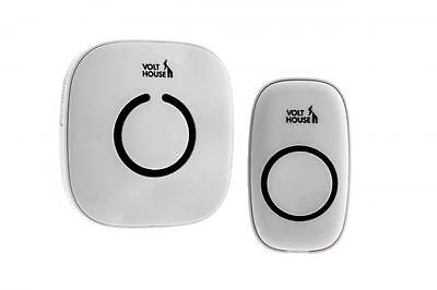 VoltHouse VHDB02 Wireless Plug In Door Bell Chime 300m Range 52 Melody New White
