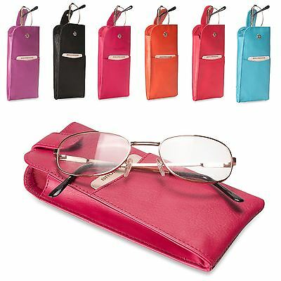 Brunhide Genuine Leather Soft Glasses Case Pouch Reading Real 221-300