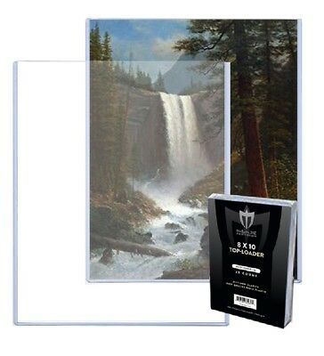125 MAX PRO 8 x 10 RIGID TOPLOADERS TOPLOAD PREMIUM PHOTO HOLDER 8x10 PROTECTORS