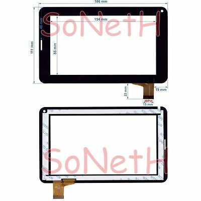 """Vetro Touch screen Digitizer 7,0"""" Majestic TAB-377 3G Tablet PC Nero"""