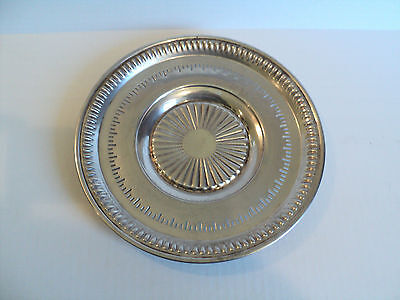 "LIPIMAN BROS. CANADIAN STERLING SILVER 9.5"" PIERCED PLATTER / TRAY, 226 grams"