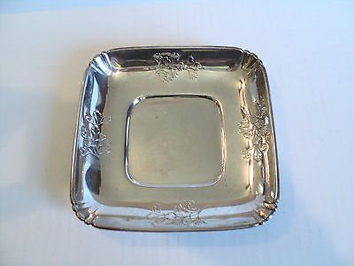 """Vintage Wallace Sterling Silver 6"""" Square Bowl / Dish,  #4218-9"""