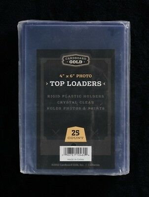 25 4x6 Ultra CBG Premium Pro Hard Rigid Toploaders Photo Topload Holders - New