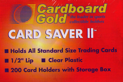 CBG 4,000 4000 ct Card Saver II 2 Semi Rigid Sports Card Holder - New Improved