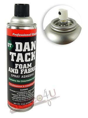Dan Tack 12oz Can Professional Spray Adhesive For Foam and Fabric Or Glue