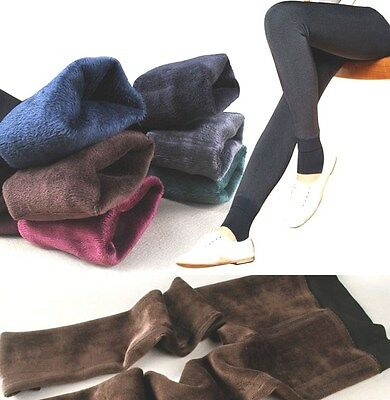 New Winter Super Warm Soft Women Leggings Moda Mix  Solid Long Stretchy Thick