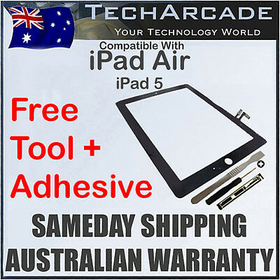 iPad Air Black 3G 4G Wifi Touch Screen Panel Glass Digitizer Tools Adhesive 5