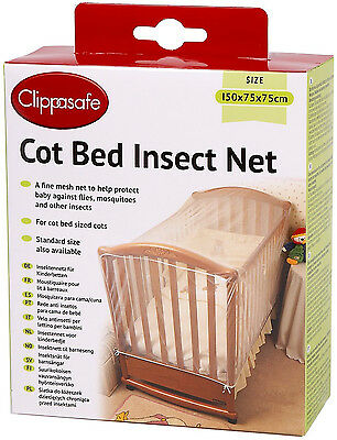 Clippasafe COT BED INSECT NET/MESH Baby/Child/Kids Nursery Safety Proofing - BN