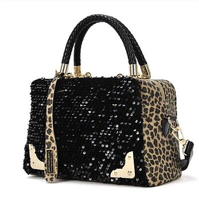 Women Sequin Leopard Messenger Cross Shoulder Bag Handbag HandBag Cheap
