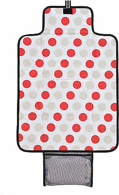 Polar Gear CHANGING MAT w/ NAPPY/DIAPER POCKET BLACK Travel/Holiday/Handbag BN