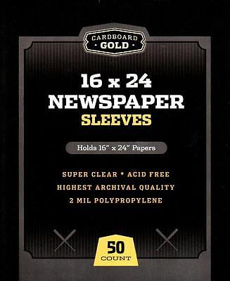150 CBG 16 x 24 Newspaper Acid Free 2-Mil Clear Poly Sleeves 16x24 covers