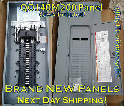 NEW! Square D QO140M200 *200A Main* Circuit Breaker Panel w/ Cover