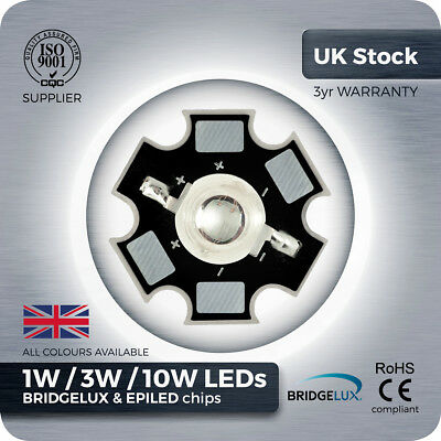 1/ 5/ 10 pcs 1W 3W 10W High Power LED with PCB - Grow lights aquarium LED UK COB