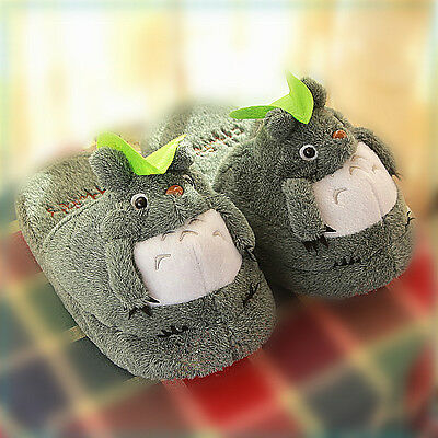 "TOTORO SLIPPER  Brand New My Neighbor 10"" Doll Plush Slipper 1 pair"