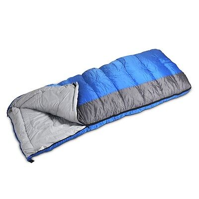 SINGLE Large Sleeping Bag Adult Envelope - 3 season Warm 400gsm