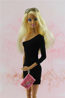 Handmade Vintage Little Black Dress/Clothes/Outfit For Barbie Doll Silkstone a1