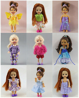 5*Different Style Clothes Dress Outfit for Kelly Doll