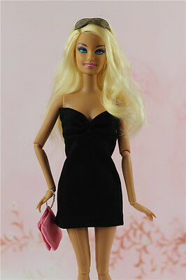 Vintage Style Little Black Dress Handmade Outfit For 11.5in.Doll Silkstone c1
