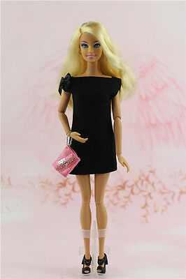 Vintage Little Black Dress/Clothes/Handmade Outfit For 11.5in.Doll Silkstone f1