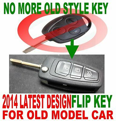 NEW FLIP REMOTE FOB TO 2003 04 2005 06 2007 FORD FIESTA 53 reg FOB CHIP KEY 6D2