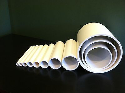"16"" Inch Diameter Schedule 40 PVC Pipe x (1 foot length) White"