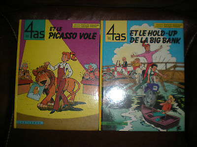 Les 4 As - Lot De 2 Tomes En Editions Originales : Picasso + Hold Up - Craenhals