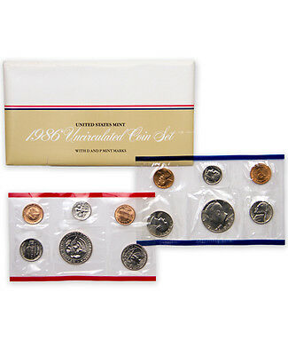 1986 United States U.S. Mint Uncirculated Coin Set SKU1392