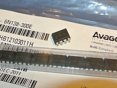 6N138-300E Avago Technologies Optocoupler 8-Pin PDIP SMD [QTY=1pcs]