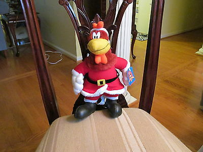FOGHORN LEGHORN DRESSED IN SANTA SUIT 1997 LOONEY TUNES TAG STILL ATTACHED NICE!
