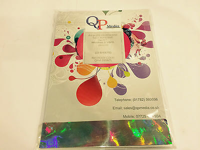 White A4 High Gloss Inkjet Self Adhesive Sticker Vinyl Not Paper (10 Sheets)