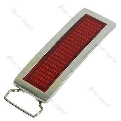 Useful Programmable Red LED Light Scrolling Belt Buckle DIY Text Message Display