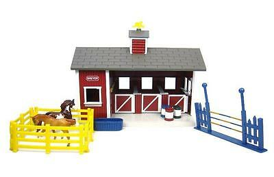 NEW Kids Breyer Stablemates Red Stable Set, 2 Horses And 3 Stall Barn - Gift Set