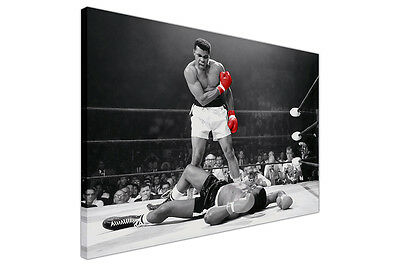 Muhammad Ali Ko Red Gloves Canvas Wall Art Prints Sports Decoration Pictures