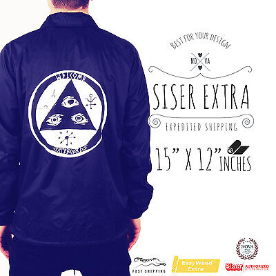 """Siser EASYWEED EXTRA Heat Transfer Vinyl 15"""" X 12"""" *SELECT YOUR COLOR*"""
