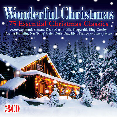 Wonderful Christmas BEST OF 75 ESSENTIAL CLASSIC SONGS Holiday Music NEW 3 CD