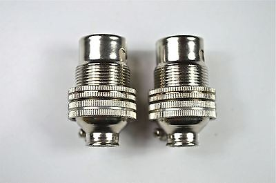 2 Nickel Small Bayonet B15 Fitting Bulb Holder Lamp Holder Shade Ring 10Mm L6