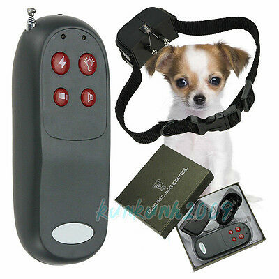 4in1 Remote Small Medium Dog Training Shock Vibrate Collar Trainer Safe for Pet