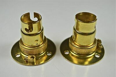 2 Brass Small Bayonet Batten Fitting Bulb Holder Lamp Holder Table Light Top L7