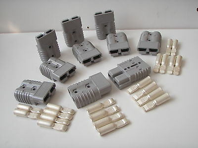10 X Grey Genuine Sb175 Amp Anderson Plug Battery Power Cable Connectors 50 Sqmm